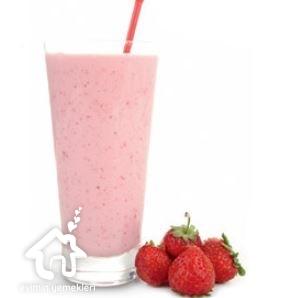 Çilekli fesleğenli milkshake