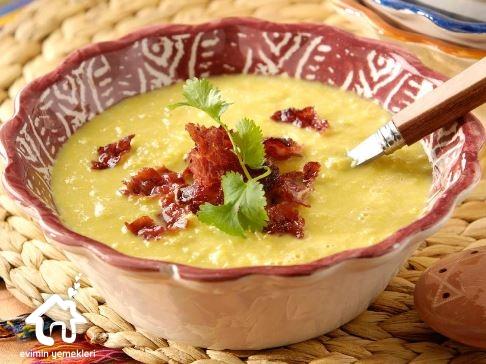 Jambonlu Mısır Çorbası