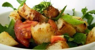 Kızarmış Çıtır Ekmekli Salata
