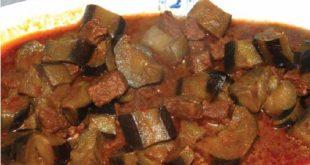 Kimyonlu patlıcan yemeği