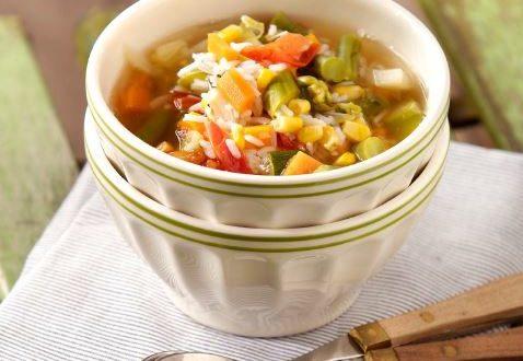 Pirinçli Sebze Çorbası
