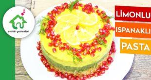 Ispanaklı Limonlu Pişmeyen Pasta