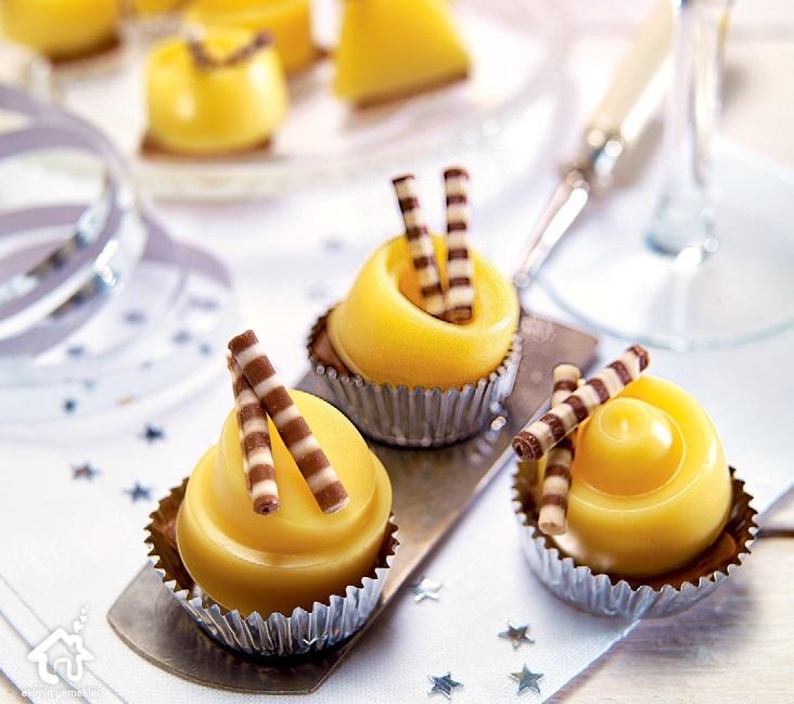 Portakal Pelteli Minik Muffinler