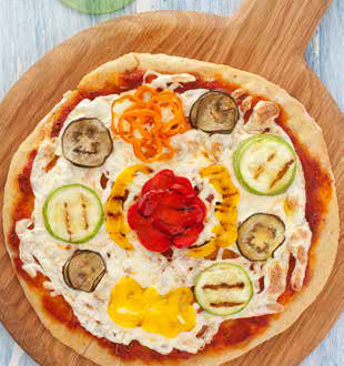 Yaz Sebzeli Kepekli Pizza