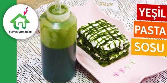 Yeşil Renkli Hazır Pasta Sosu