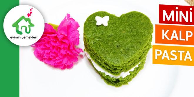 Yeşil Renkli Mini Kalp Pasta