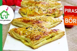 Pırasalı Milföy Böreği Tarifi
