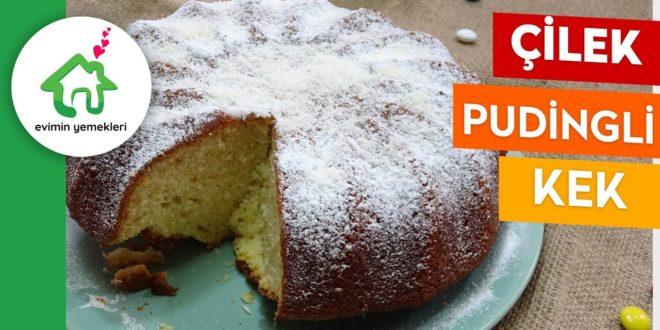 Çilek pudingli kek tarifi