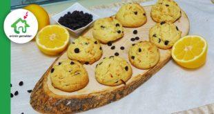 Damla çikolatalı limonlu ev kurabiyesi