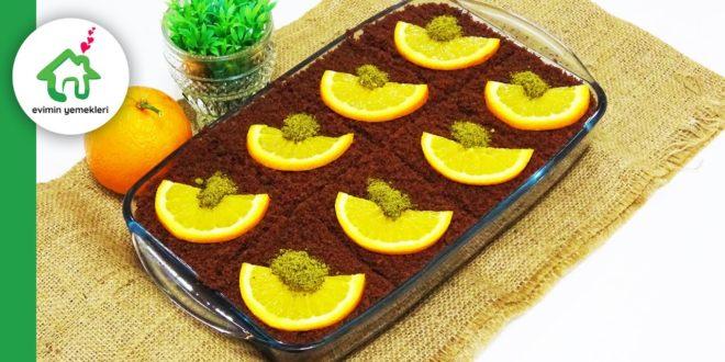 Kakaolu portakallı ıslak kek tarifi