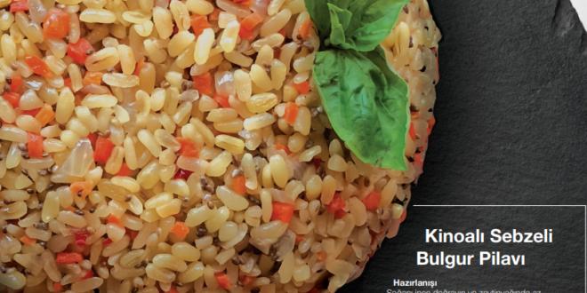 Kinoalı sebzeli bulgur pilavı tarifi